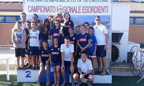 Rari nantes lamezia ai campionati regionali estivi fin for Piscina olimpionica crotone
