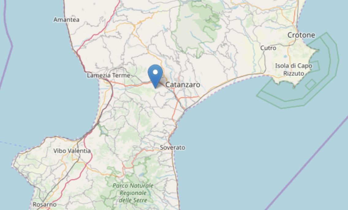 Terremoto in Calabria, scossa 4.0 nel Catanzarese