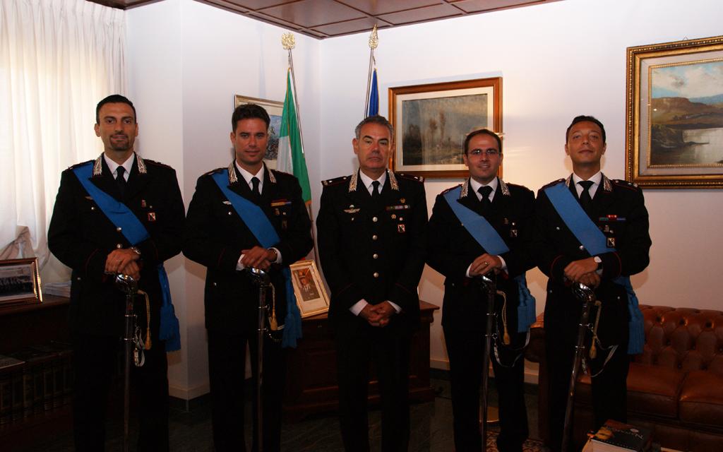 Carabinieri, il comandante della legione saluta ufficiali trasferiti