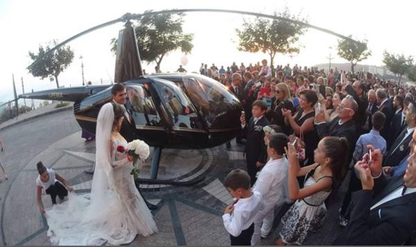 Sposi atterrano in elicottero: Procura di Vibo V apre inchiesta