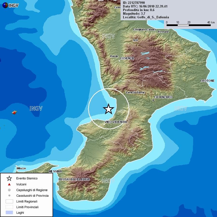 Lamezia: Scossa di terremoto nel golfo di S. Eufemia di ...