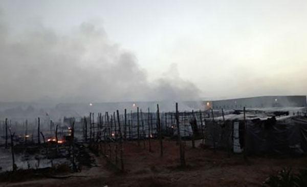 Scoppia incendio in tendopoli San Ferdinando, un ferito