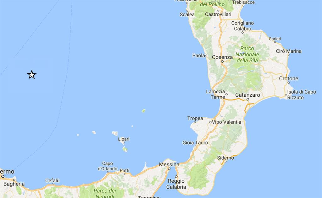 Forte scossa di terremoto anche al Sud